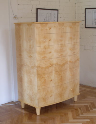 Curved front drawers