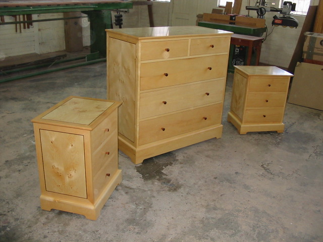 Huon chest of drawers and bedside cabinets