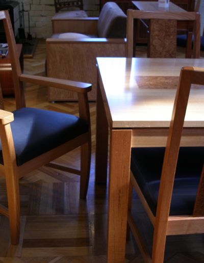 Table and chair detail