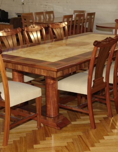 Pillar Dining Table and Chairs